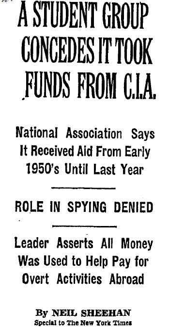 CIA Involvement in National Students' Association
