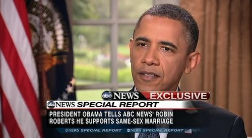 Obama Supports Gay Marriage
